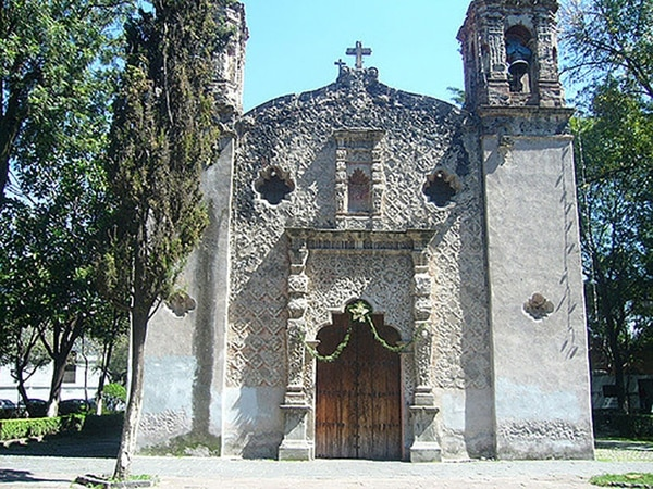 El templo de la Conchita, en Coyoacán, México