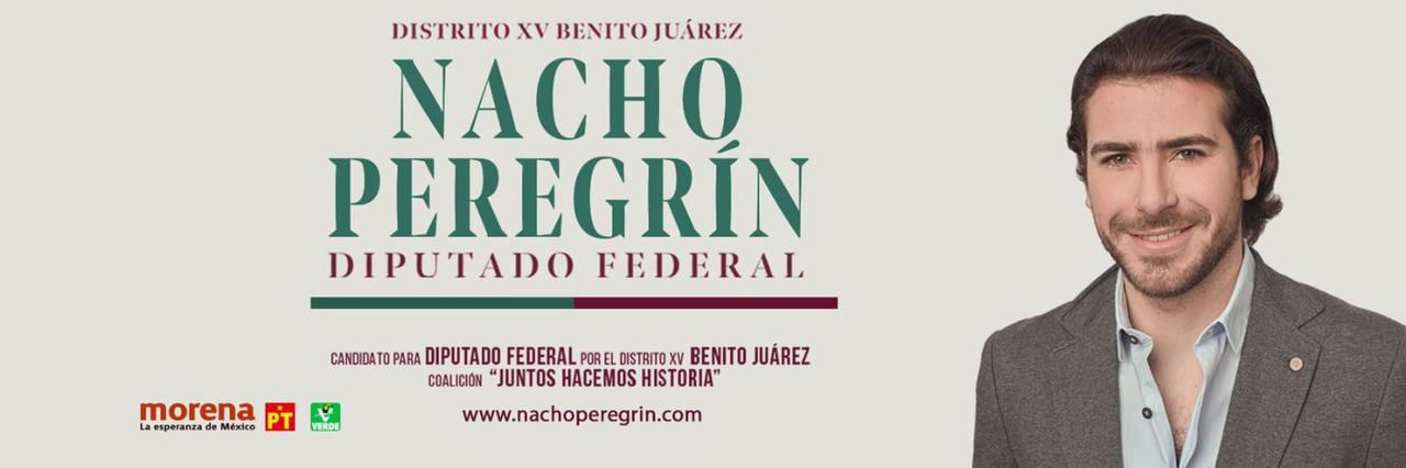 Nacho Peregrín, candidato a diputado federal por el distrito XV. FOTO: Twitter/@peregrin_nacho