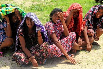 Vista de mujeres de la etnia wayúu. EFE/Hugo Penso/Archivo