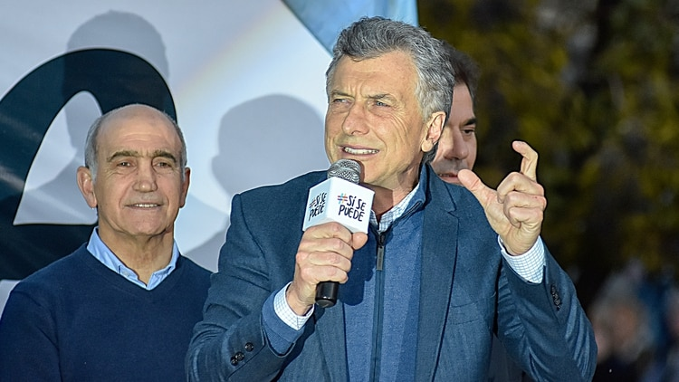 Mauricio Macri en un acto en Bahía Blanca (Télam)
