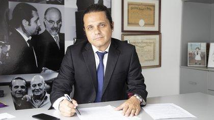 Marcelo Peretta, titular del Sindicato de Farmacéuticos y Bioquímicos, también se sumó al encuentro liberal