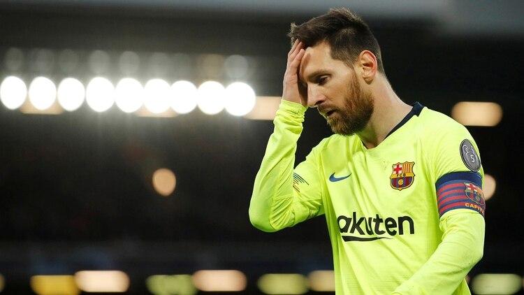 Así reaccionó Messi cuando Liverpool logró la remontada histórica (REUTERS)
