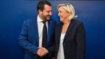 Matteo Salvini y Marine Le Pen, líderes de los dos mayores partidos de extrema derecha de Europa Occidental (EFE)