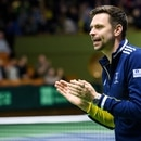 Tennis - Davis Cup Qualifiers - Sweden v Chile - Royal Tennis Hall in Stockholm, Sweden - March 6, 2020. Sweden's coach Robin Soderling reacts. TT News Agency/Erik Simander via REUTERS ATTENTION EDITORS - THIS IMAGE WAS PROVIDED BY A THIRD PARTY. SWEDEN OUT. NO COMMERCIAL OR EDITORIAL SALES IN SWEDEN.