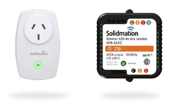 Enchufe interruptor y dimmer LED de Solidmation