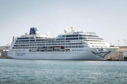 El crucero Adonia anclado en el puerto de la Terminal de Cruceros de Miami, Florida (EE.UU.). EFE/Cristobal Herrera/Archivo