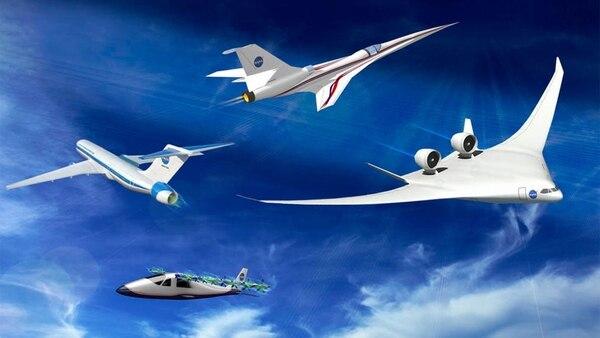 Una representación de la serie X de aviones de Lockheed Martin alimentada por energía verde diseñada para la NASA