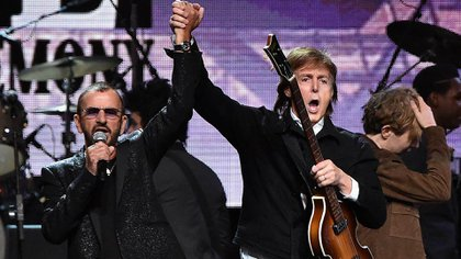 Ringo Starr y Paul McCartney (AFP)