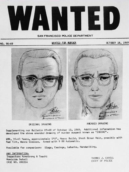 Los indentiks del asesino del zodíaco que nunca pudo ser hallado