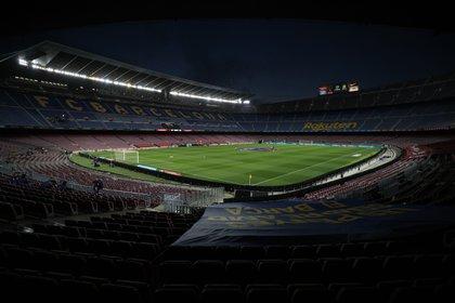 Soccer Football - La Liga Santander - FC Barcelona v Getafe - Camp Nou, Barcelona, Spain - April 22, 2021 General view inside the stadium before the match REUTERS/Albert Gea