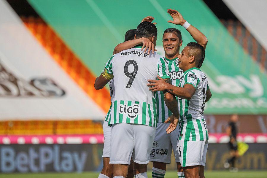 Atlético Nacional durante el encuentro contra Patriotas por la fecha 19 de la Liga Betplay. Foto: Colprensa