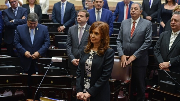 Jura de Cristina Kirchner en el Senado. (Fotos: Gabriel Cano / Pablo Grinberg / Charly Diaz Azcue / Comunicacion Senado)