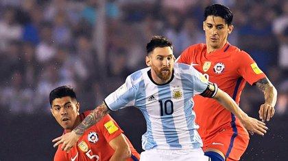 Messi, el verdadero, en acción (Télam)