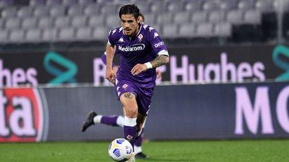 Lucas Martínez Quarta, a un paso de llegar a los diez partidos con Fiorentina por la Serie A (Photo by IPA/Sipa USA)