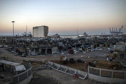 Así quedó el puerto de Beirut tras la explosión. Diego Ibarra Sanchez/The New York Times