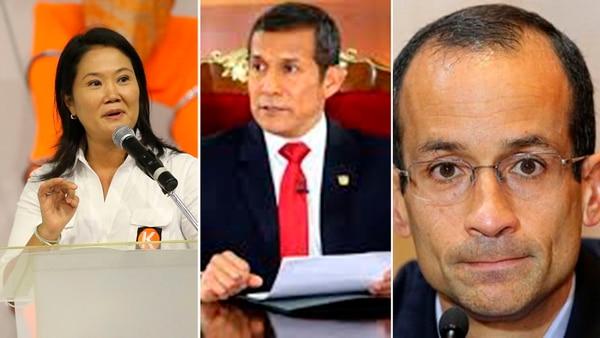 Keiko Fujimori, Marcelo Odebrecht y Ollanta Humala