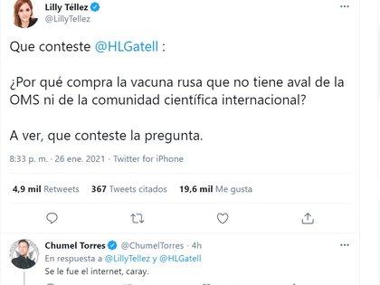 Lilly Téllez a affronté Hugo López-Gatell pour l'achat du vaccin Spoutnik V, toujours sans approbation