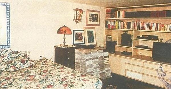 Habitación de Escobar en el centro penitenciario