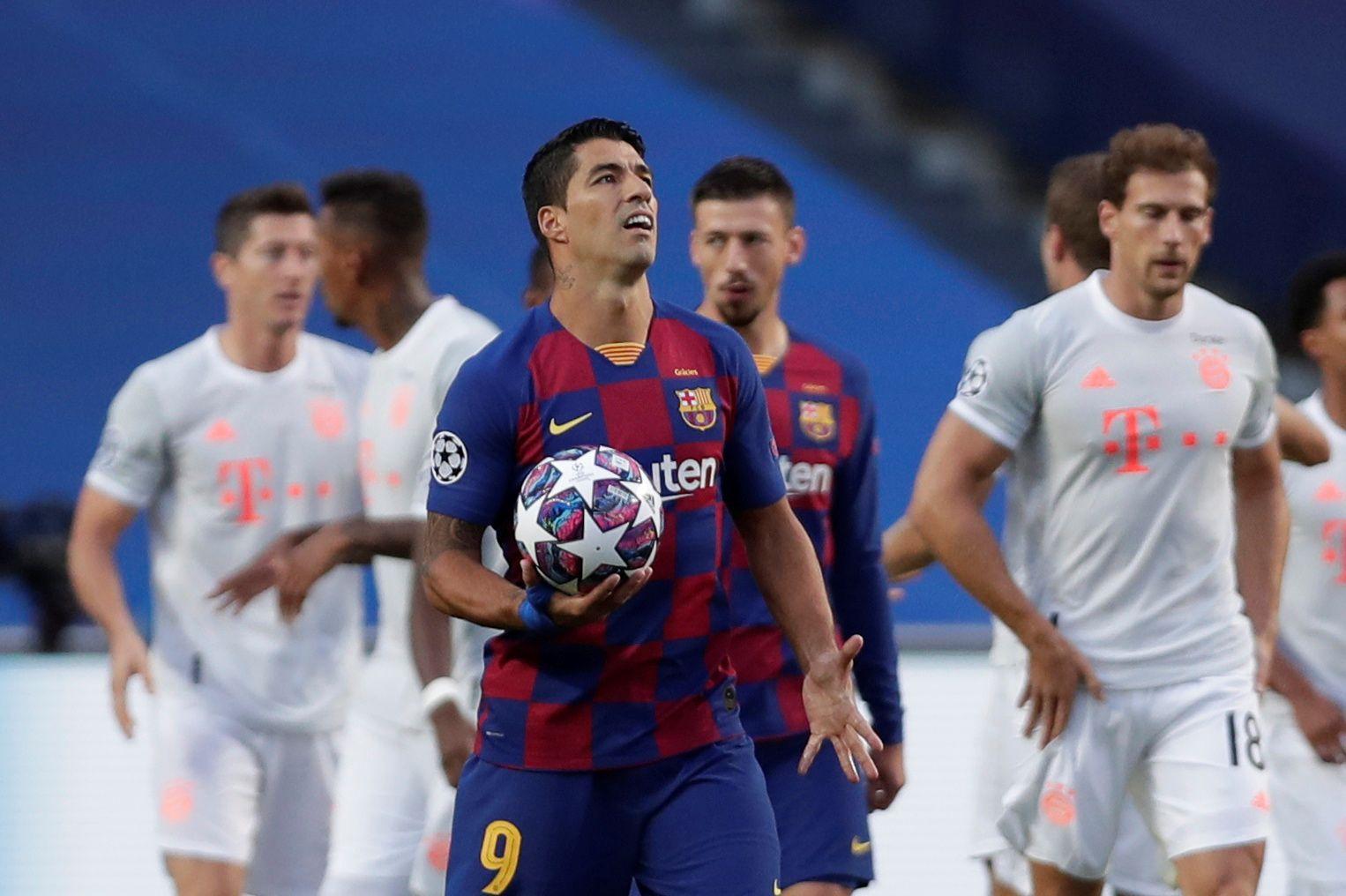La impotencia de Luis Suárez en la noche de Lisboa: goleada histórica en contra ante Bayern Múnich (Manu Fernandez/Pool via REUTERS)