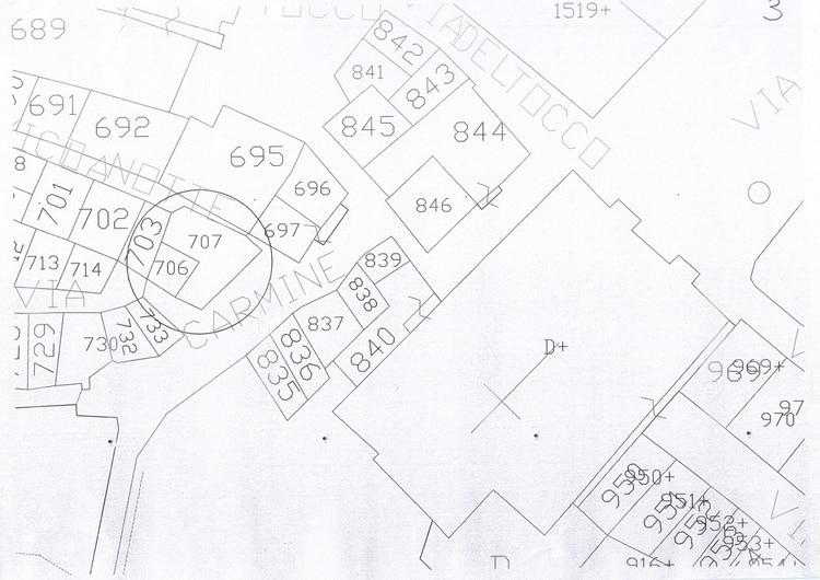 Plano del lote donde se levanta la propiedad