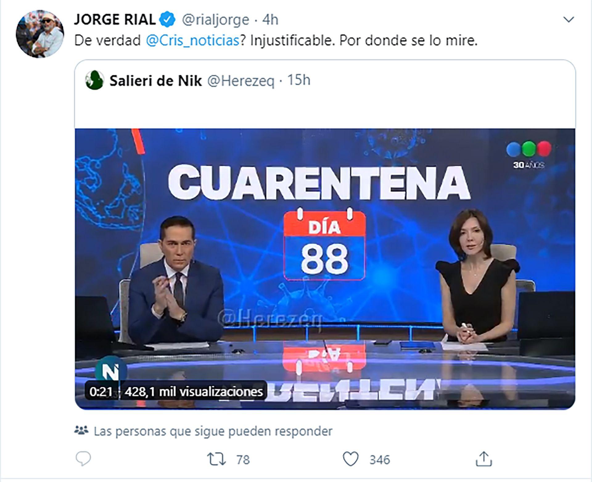 Jorge Rial tuit