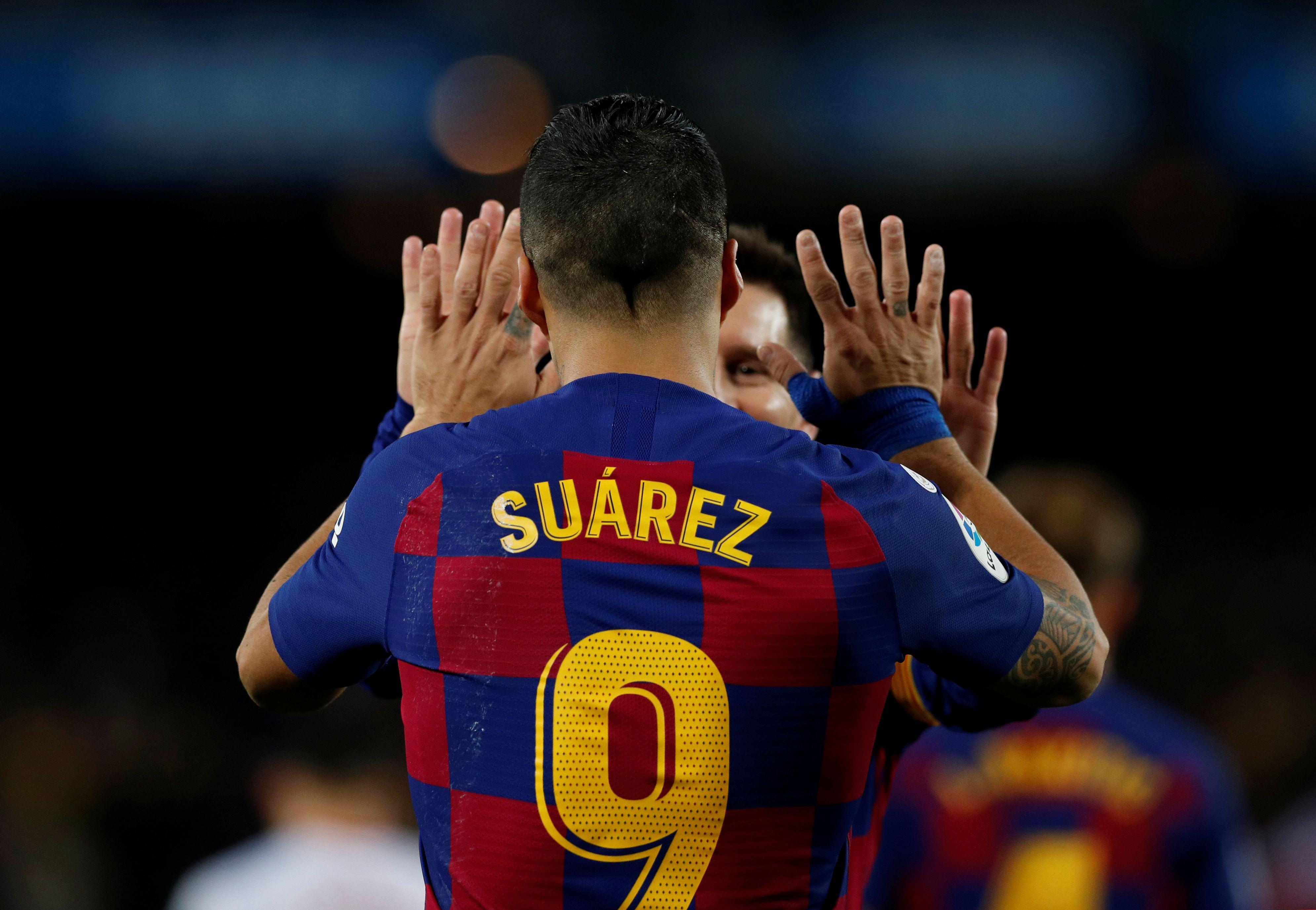 Luis Suárez es el tercer máximo goleador histórico del Barcelona, con 198 goles (Reuters)
