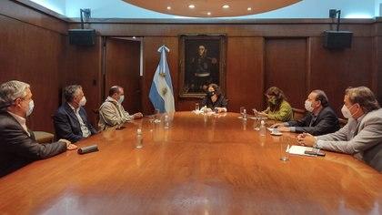 La ministra Carla Vizzotti recibió el jueves pasado a los representantes de los prestadores del sector de la salud agrupados en la FAPS
