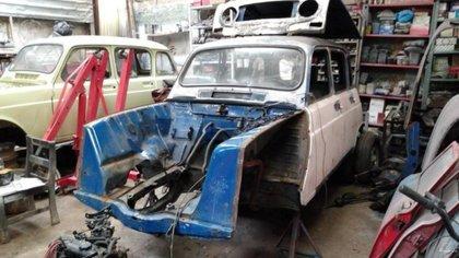 Todo su interior fue reparado. Ricardo quería su Renault 4 como si recién hubiera salido de la fábrica en Sofasa, en el municipio de Antioquia.