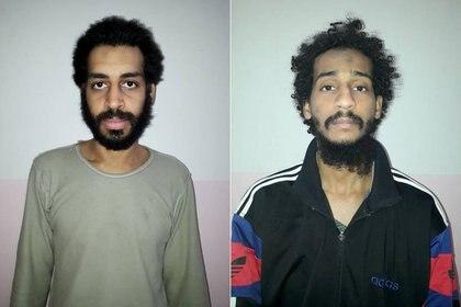 Una combinación de fotos muestra a Alexanda Kotey y Shafee Elsheikh, en estas imágenes sin fecha en Amouda, Siria, publicadas el 9 de febrero de 2018. (REUTERS / Foto de archivo)