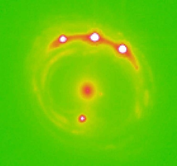 La imagen que detectaron los científicos