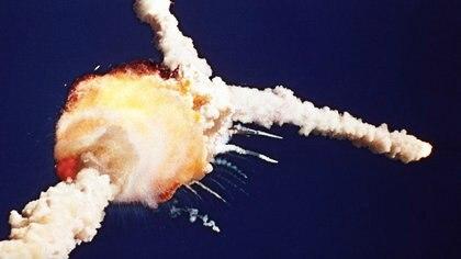 Ladesintegracióndel tanque exterior decombustible incendió el Challenger. (Bruce Weaver/AP)