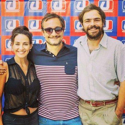 Eleonora Wexler, el productor Pablo Culell y Lanzani