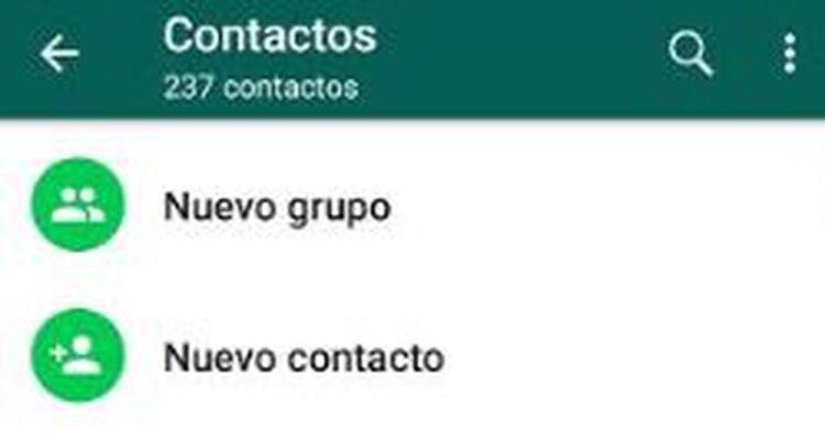 Elige la opción crear contacto desde WhatsApp (Captura de pantalla)