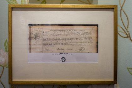 Acta de nacimiento de Carlos Gardel en la que figura como Charles Gardes. (Martín Rosenzveig)