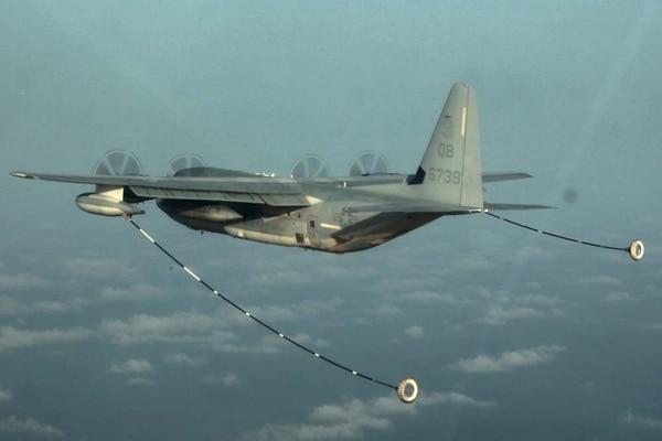 A KC-130, similar al accidentado (Reuters)