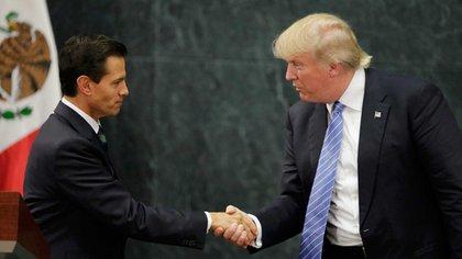 Imagen del encuentro entre Peña Nieto y Trump en México el pasado 31 de agosto (Reuters)