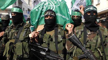 Terroristas del grupo palestino Hamas