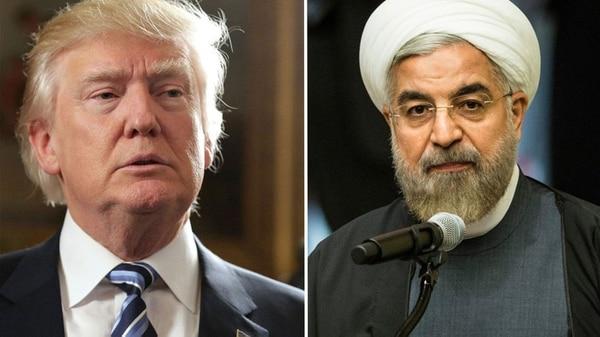 El presidente estadounidense Donald Trump y su par iraní Hassan Rohani
