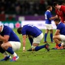 Rugby Union - Rugby World Cup 2019 - Quarter Final - Wales v France - Oita Stadium, Oita, Japan - October 20, 2019 France players look dejected after the match after the match REUTERS/Peter Cziborra