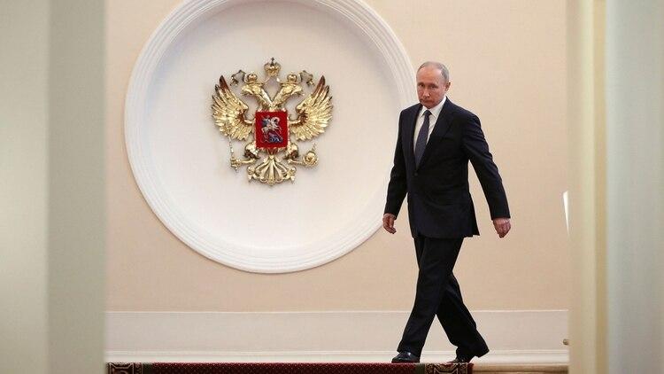 El presidente ruso Vladimir Putin en el Kremlin (Reuters)