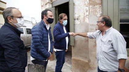 Diego Valenzuela y Julio Garro recorren la provincia en tándem. Ambos trabajan con la idea de fortalecer el núcleo de intendentes opositores