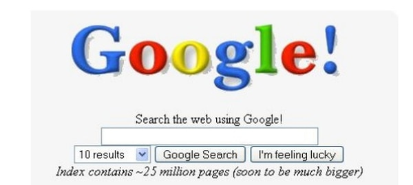Así se veía el logo original del buscador