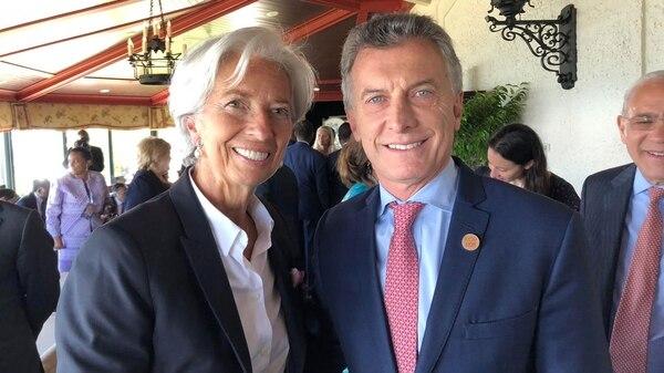Mauricio Macri con la directora del FMI,Christine Lagarde