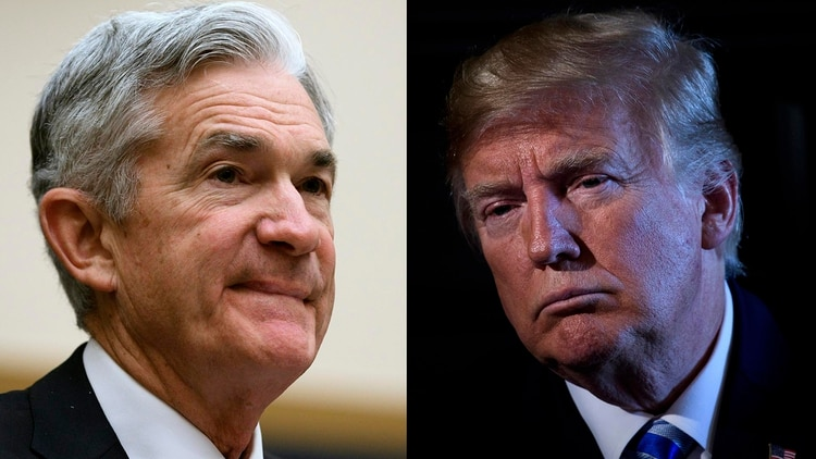 Jerome Powell y Donald Trump