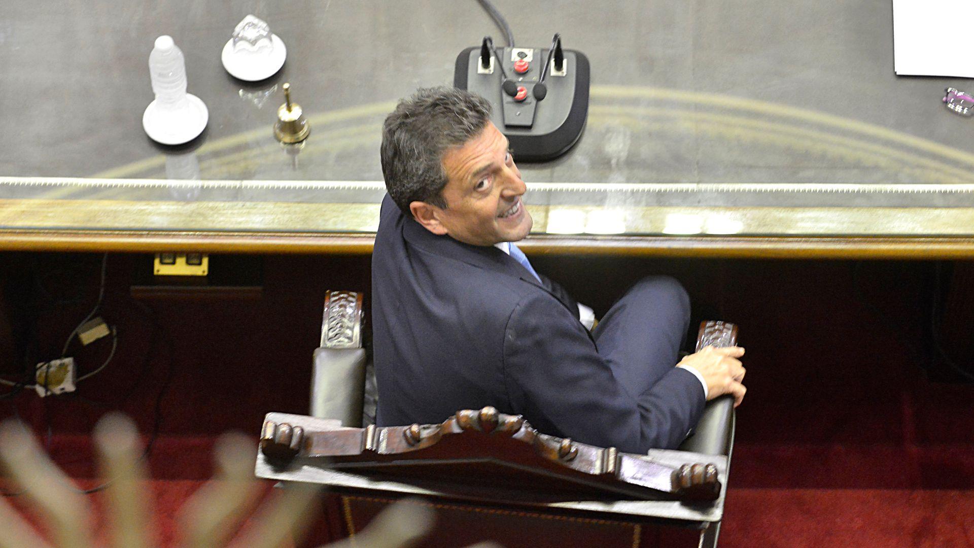 El presidente de la Cámara de Diputados, Sergio Massa, prepara el listado de temas para extraordinarias