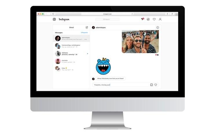 La semana pasada, Instagram habilitó la opción de enviar y responder mensajes directos desde la computadora.
