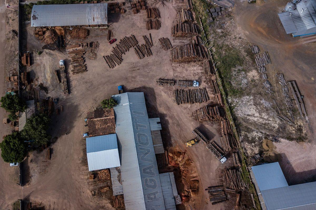 Vehicles move logs at the mill near Boa Vista. Photographer: Dado Galdieri/Bloomberg