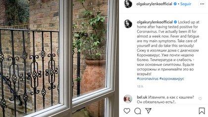 El anuncio de Olga Kurylenko en las redes sociales