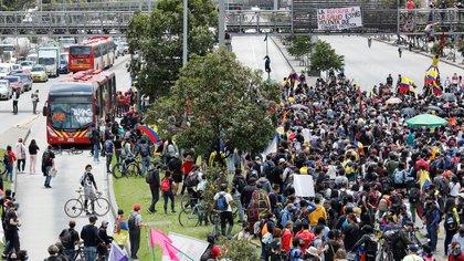 33.000 personas se movilizaron en Bogotá en el decimoquinto día de protestas del paro nacional