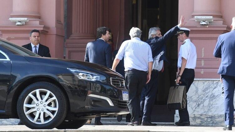 Llegada de Alberto Fernández a la Casa Rosada (Maximiliano Luna)